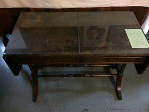 Vintage double drop leaf side table