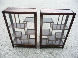 Asian Antique Display Case - two sections