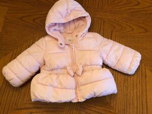 EUC BabyGap Light Pink Puffer Coat