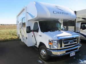 Used 2018 Chateau C Class Motorhome Model 28Z with low mileage.