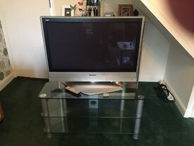 Panasonic plasma television 37'' with glass stand