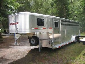 2015 Sooner Stock Trailer with Tack Room