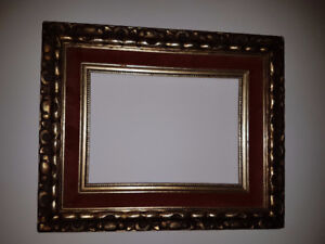 "Beautiful ornate vintage wooden frame for a 8"" by 10"" painting"