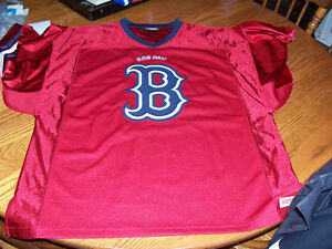 Red Sox Jersey Mens Size L  Fits Like XL