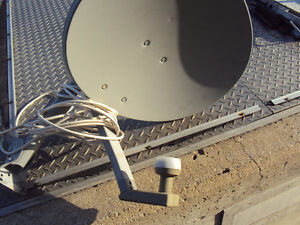 Satellite dish for Bell with 50 ft of  coax cable- $ 25.00.
