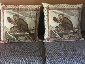 Monkey Pillows 24 inches x24 inches Kawartha Lakes Peterborough Area image 1