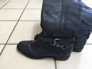 Coach leather high boots