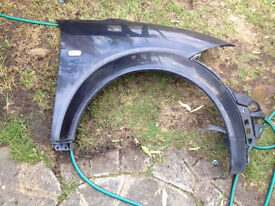 Audi a2 black wing driver off side wing fender no damage can post breaking spares parts