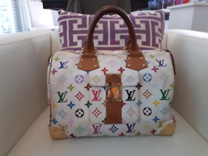 Authentic Louis Vuitton Multicolor Murakami Speedy 30