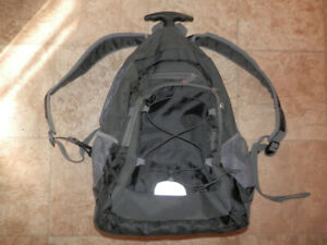 2 backpacks, cabin suitcase, yoga bag w/mat, computer bag