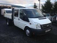 Ford Transit 2.4TDCi crew cab tipper 100PS t350 only 69,000 miles
