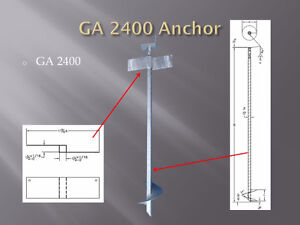 DIY anchor,steel pile,ground screw for decks sunrooms additions
