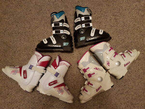 3 pairs of downhill ski boots.  $25 each.