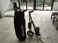 Howson golf clubs bag and trolley