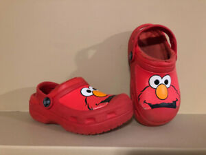 Sesame Street ELMO Insulated Toddler Crocs - Size 10/11