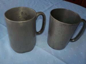 Antique Pewter Tankards from the 1800's