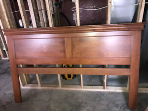 Maple King Size headboard with cherry stain
