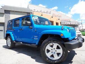Jeep Wrangler Unlimited SAHARA 4 PORTES, AUTO, CUIR,VGA BALLON O
