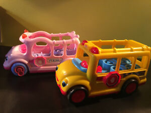 Autobus Little People de Fisher Price, rose