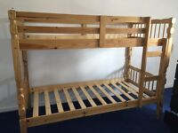 Wooden bunk beds frame