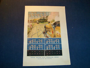 1922 COLOR PLATE-RAILWAY CONTROLLING SIGNALS-TRAINS-VINTAGE!
