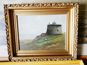 EARLY ORIGINAL MARTELLO TOWER, ST JOHN N.B. SIGNED OIL PAINTING