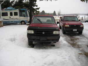 Mazda truck/ford ranger & a jeep both 1994 parting them out