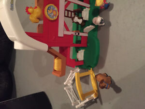 Fisher Price Little People Farm playset, 3 different