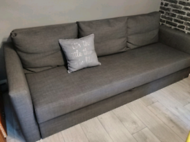 Grey sofa bed from ikea