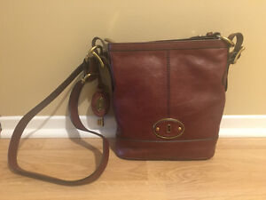 Brown Genuine Leather Bag - Fossil