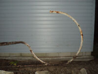 """White Rose Gas Sign Pole for 48"""" round sign"""