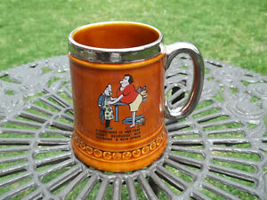 Lord Nelson Pottery vintage Steined Mug made in England goodwife