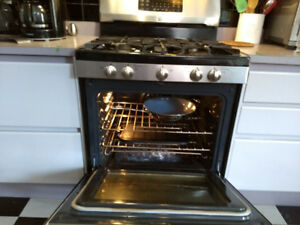 Stainless Steel APPLIANCES - GAS STOVE AND VENT Fan Set ' 30""