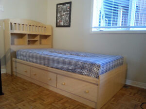 Captain's Bed (with mattress) and matching Dresser