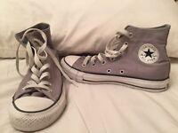 Converse - Grey Canvas All Star - Hi Tops, Size 4