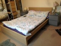 Double wooden ikea bed for 17/01/2017
