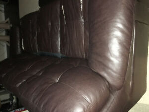 Free leather couch - dark brown