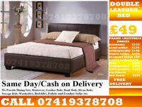 **BRAND NEW DOUBLE AND KING SIZE DEVAN LEATHiER BED**