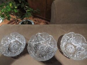 Antique Hand cut crystal bowls