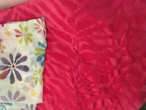 Girls Comforter Set, Curtains and Lamp