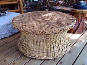 Vintage Rattan and Wicker Table