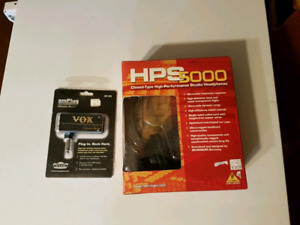 Vox amplug and hps 5000 studio headphones for electric guitar