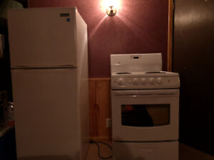 Apartment size refrigerator and stove