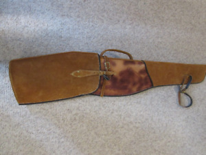 LEATHER RIFLE SCABBARD FOR SADDLE - NEW