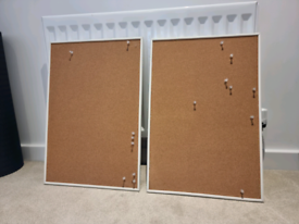 2x Cork Boards including pins