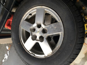 set of 4 winter tires and rims