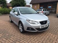 2010 Seat Ibiza 1.6 16v Sport BARGAIN PRICE 5dr Full Service History, 2 keys ideal taxi private hire