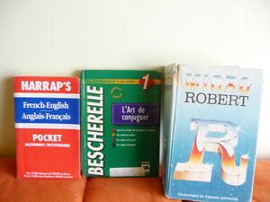 dictionary-french -english, Bescherelle, Micro Robert