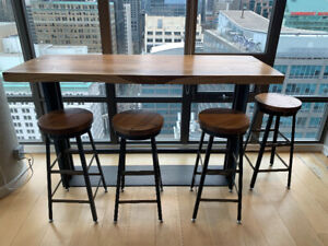 Solid Wood Table - Bar Height