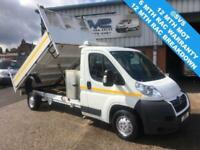 2012 62 CITROEN RELAY 130BHP LWB DROPSIDE TIPPER WITH TOOLBOX DIESEL NOT TRANSIT